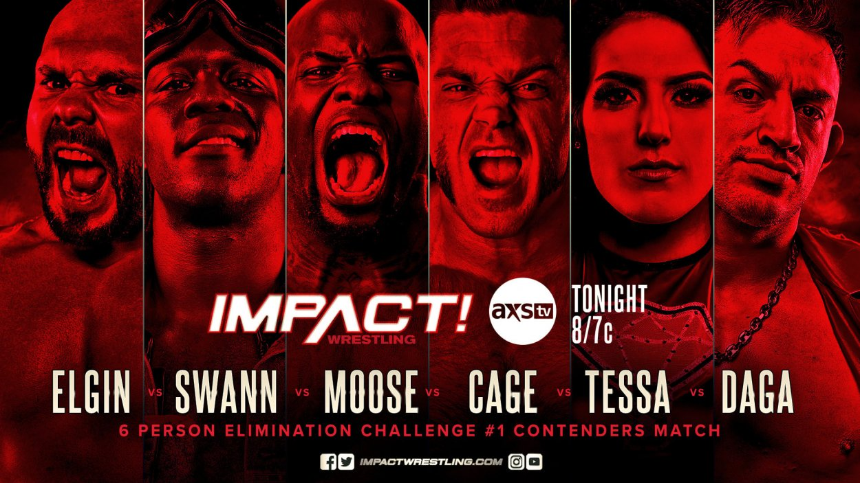 Impact Wrestling Poster for the 6 Person Elimination Challenge #1 Contenders Match