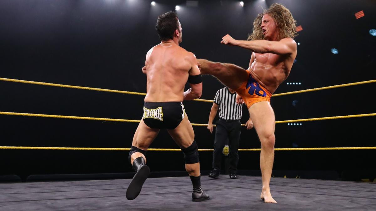 Matt Riddle met an equal match in this competition with Roderick Strong.