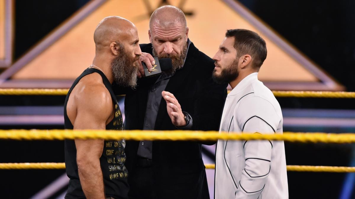 Triple H moderated a discussion with Tomasso Ciampa and Johnny Gargano, and laid down the law.