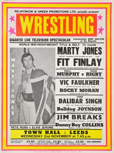 A classic British Wrestling poster