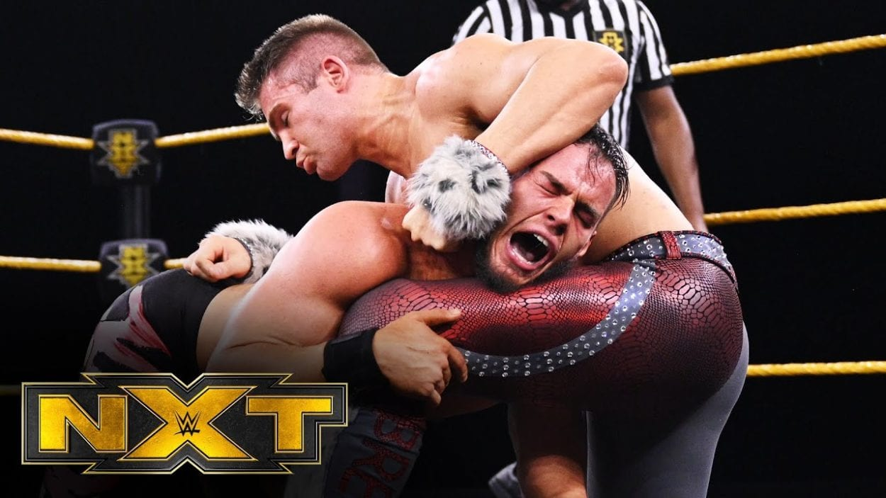 Tyler Breeze and Austin Theory got physical in this one on one encounter.