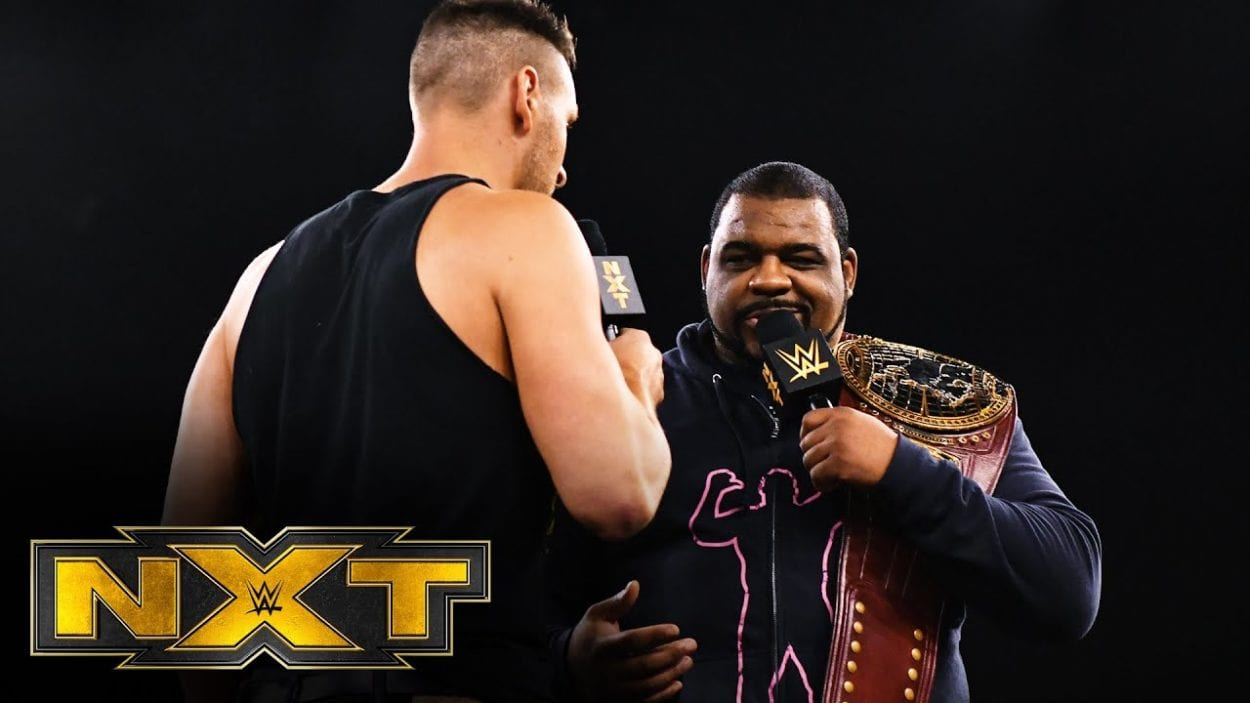 Keith Lee and Dijakovic were engaged in a heated discussion on NXT.