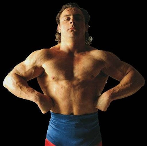 Dynamite Kid shows us how hard he's been working out
