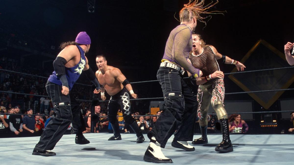 Matt and Jeff Hardy bring the fight to Lance Storm and Christian in this Tag-Team Turmoil match.