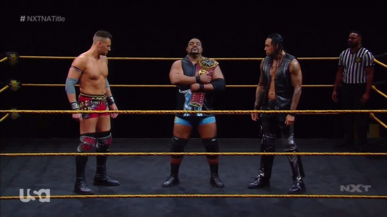 Keith Lee defends his North American Championship in a Triple-Threat Match