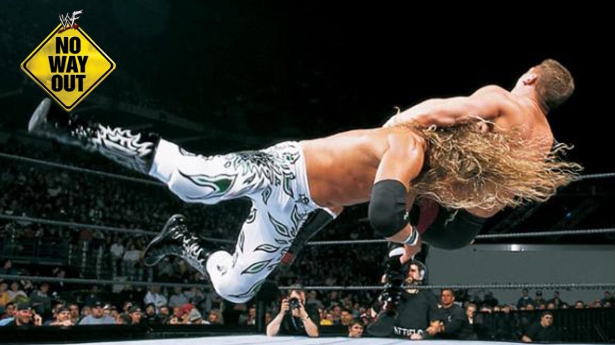 Edge Delivers a Spear to William Regal