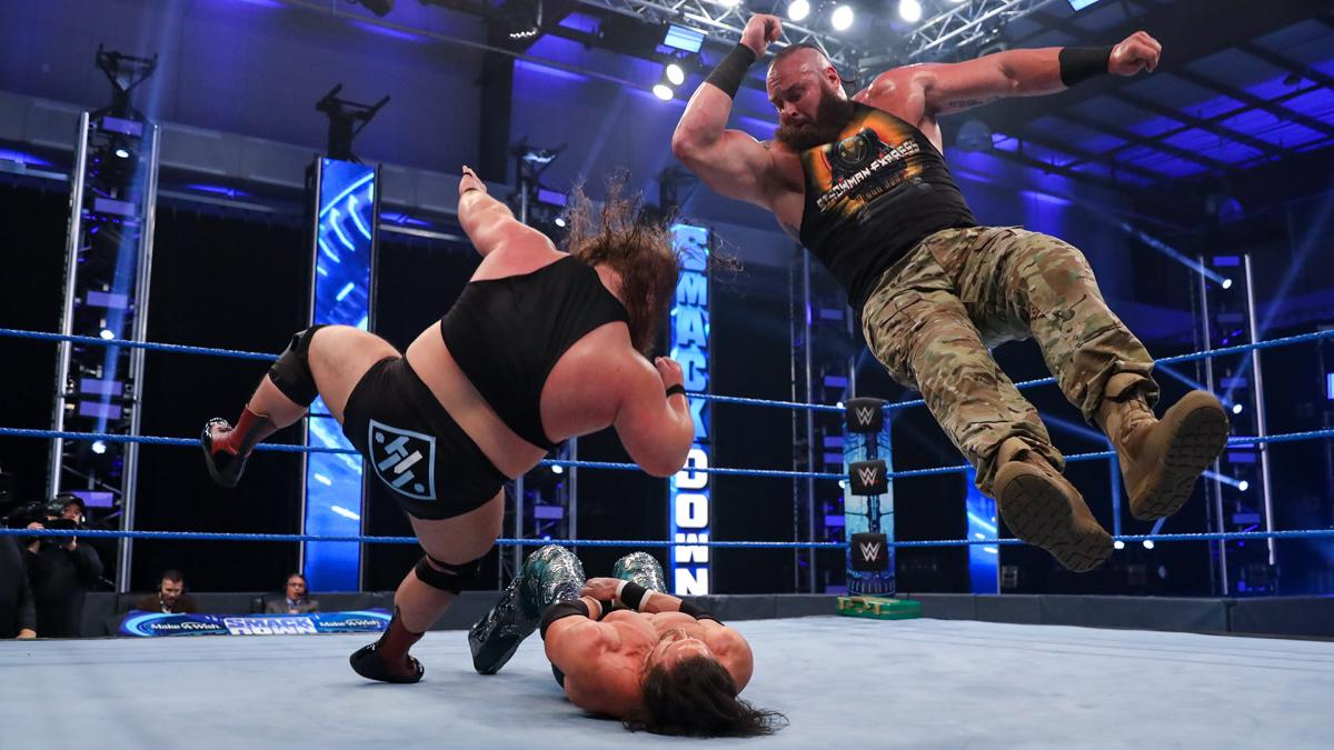 Strowman and Otis bring the fight to Miz and Morrison
