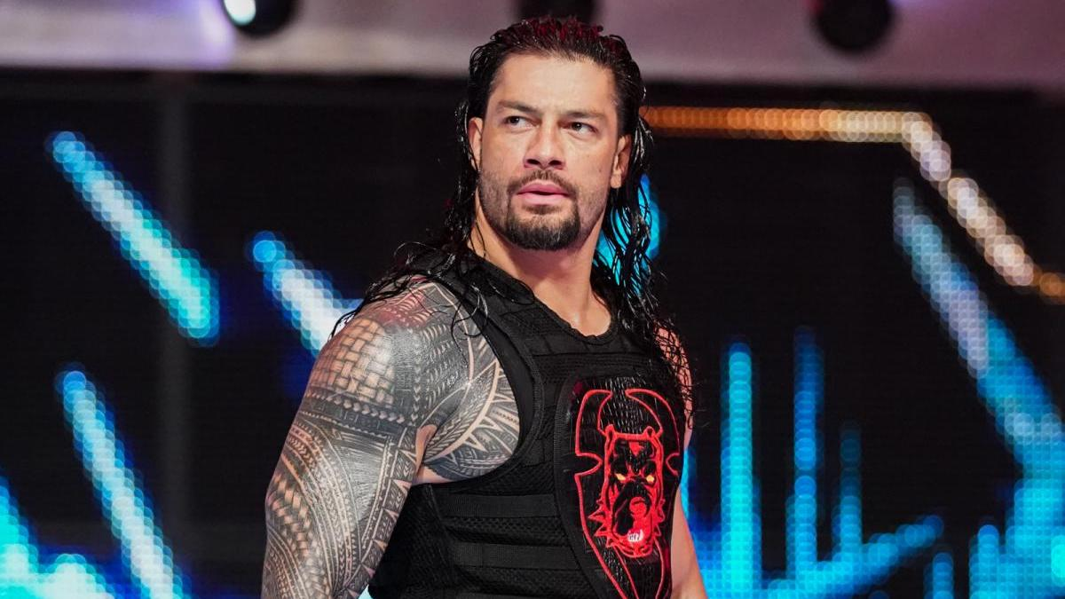 Roman Reigns walks up the ramp