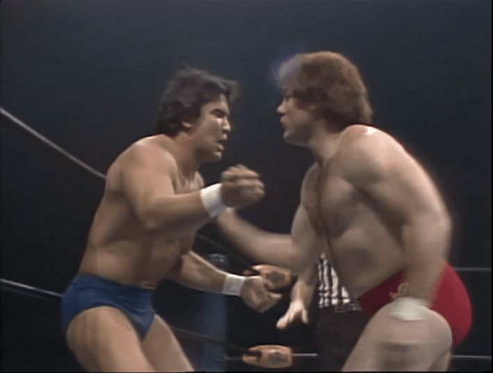 Tully Blanchard takes a swing at Ricky Steamboat