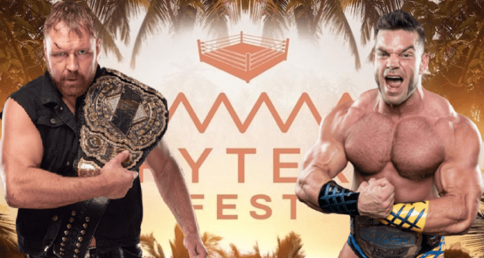 Jon Moxley vs. Brian Cage Fyter Fest title card