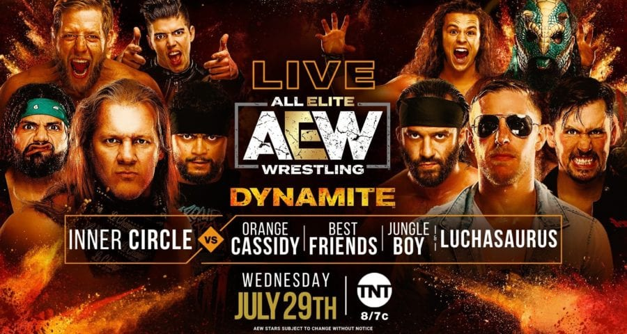 AEW Inner Circle vs. Best Friends and Friends title card