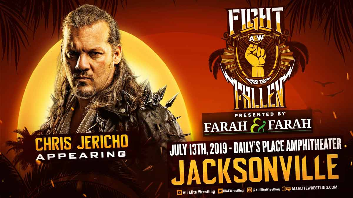 AEW Fight for the Fallen 2020 Chris Jericho title card