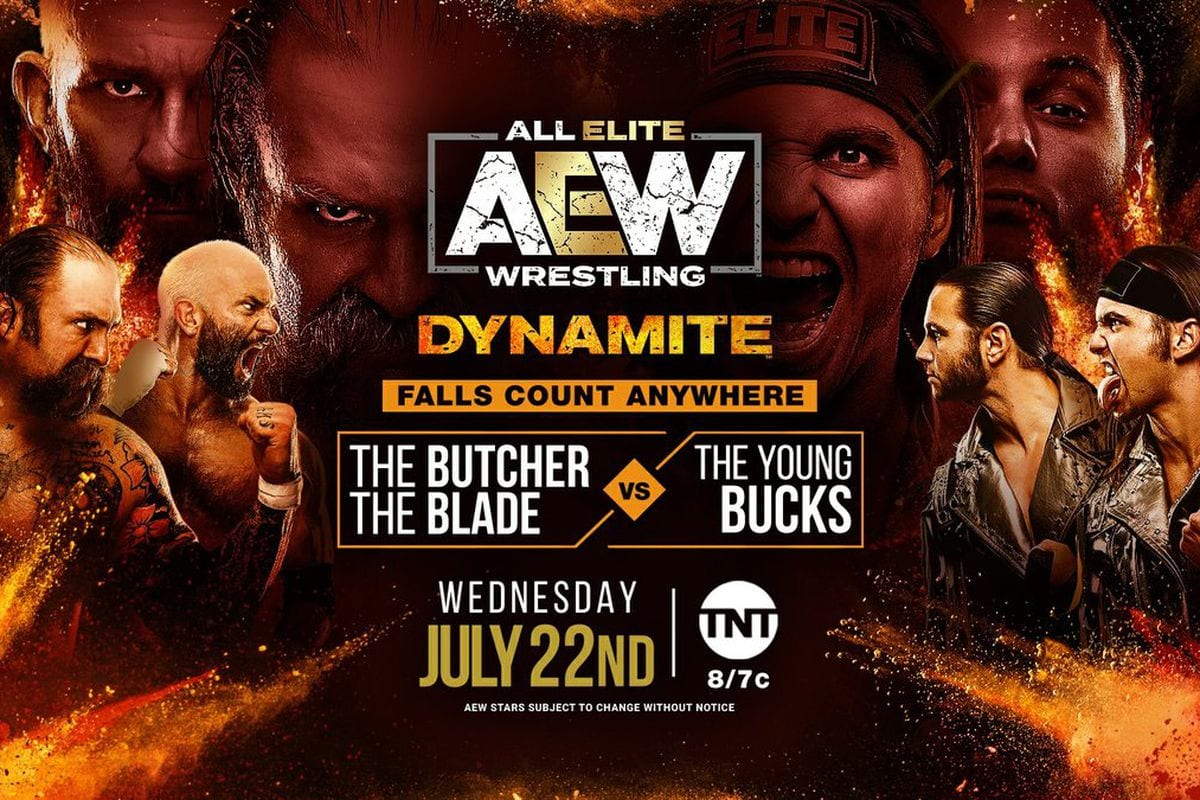 AEW Dynamite The Young Bucks vs. The Butcher and The Blade