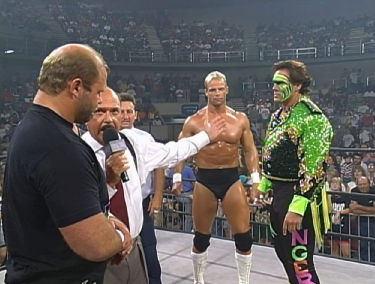 Horseman talk to Sting and Luger