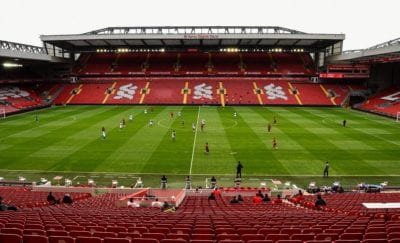 Liverpool play Blackburn in a warm up game in an empty Anfield