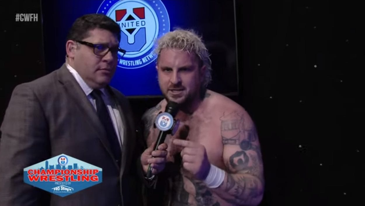 Zicky Dice gives David Marquez some grief on the mic!