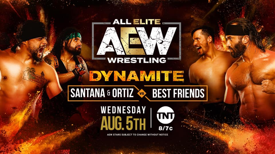 Best Friends vs. Proud and Powerful AEW title card