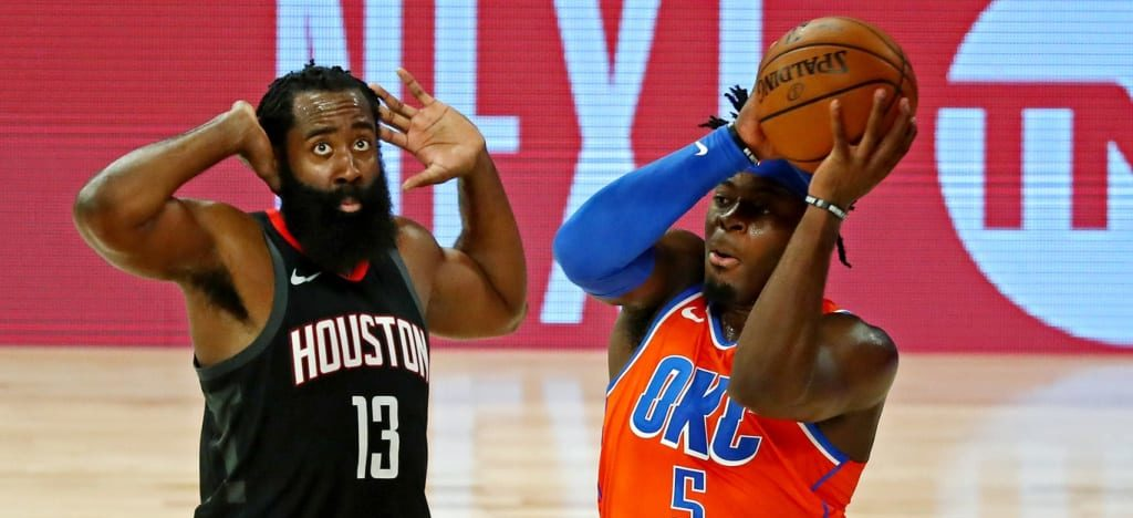 James Harden guards Lu Dort