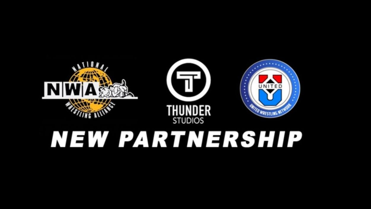 NWA, Thunder Studios and United Wrestling Network logos