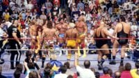 Hulk Hogan and Andre the Giant's teams prepare to go to war in the ring!