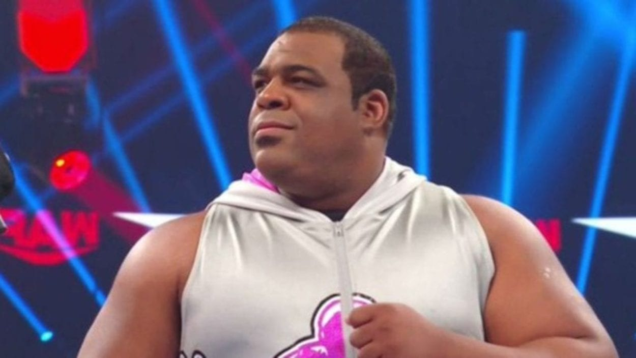 Keith Lee looks on from the ring on Raw