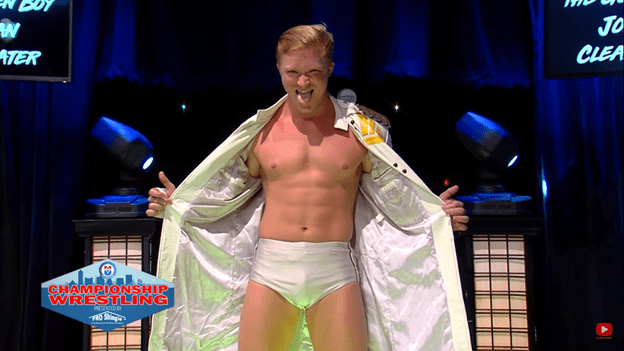 Jordan Clearwater makes his entrance on Championship Wrestling