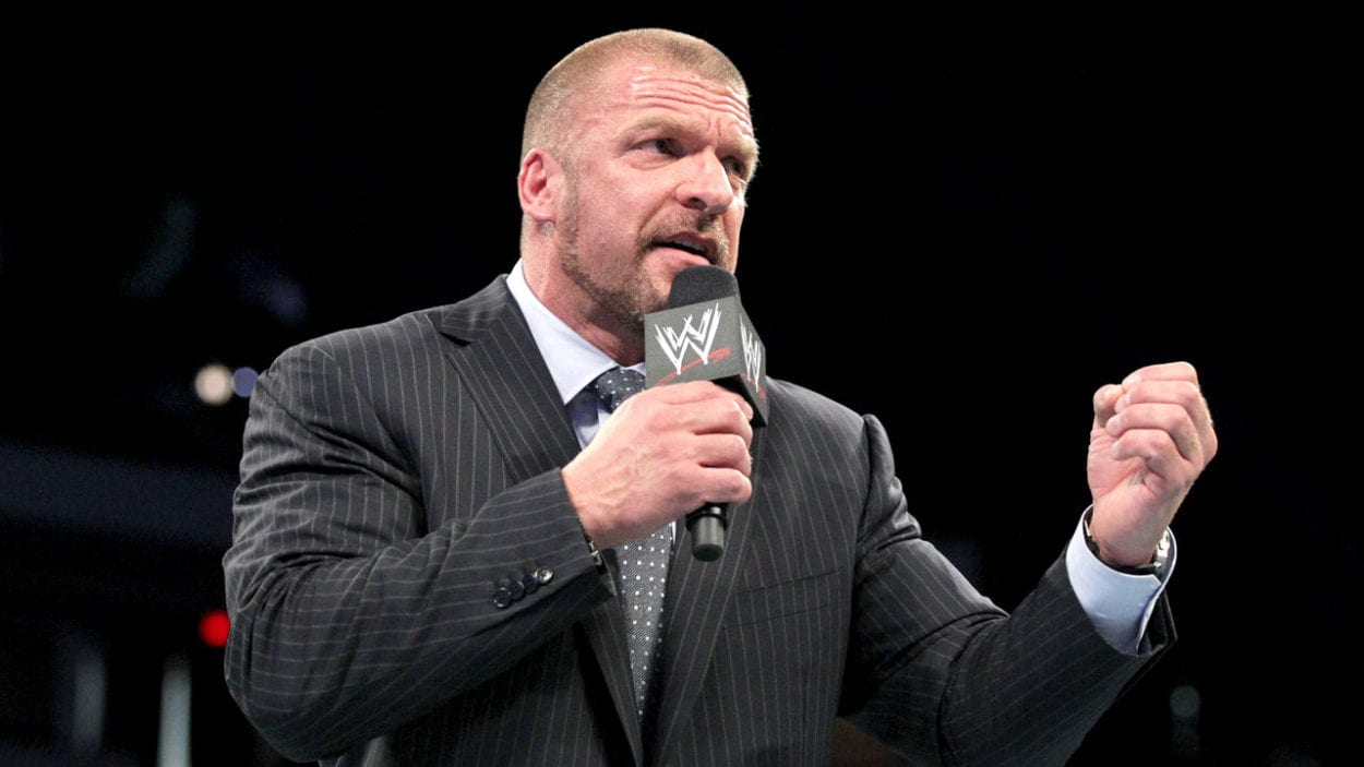 Triple H on the mic