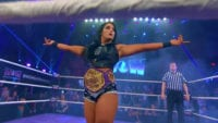 Tessa Blanchard poses in the ring with WOW belt