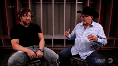 Kenny Omega and Jim Ross have a sit-down chat on AEW Dynamite