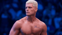 Cody Rhodes stares intensley at the crowd
