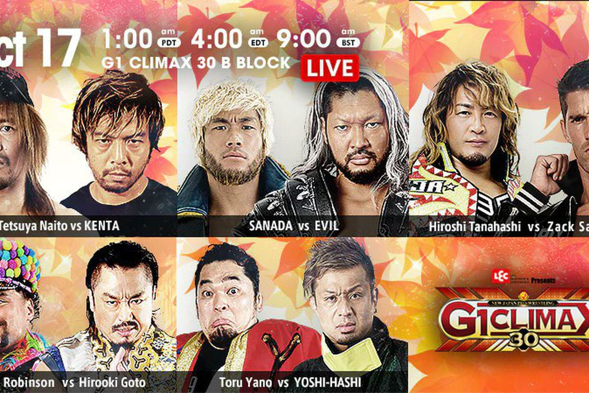 NJPW G1 Climax 30 October 17th title card