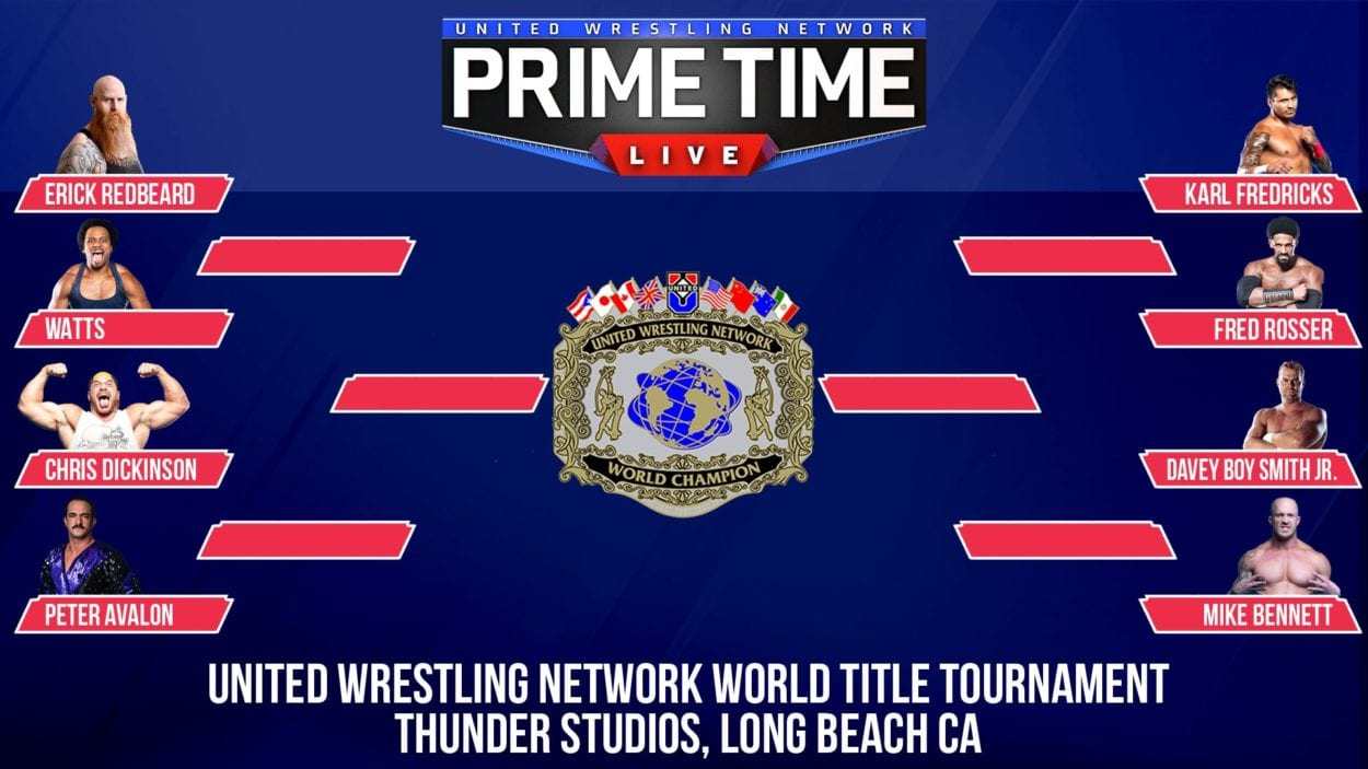 The brackets for the first ever UWN World Heavyweight Championship