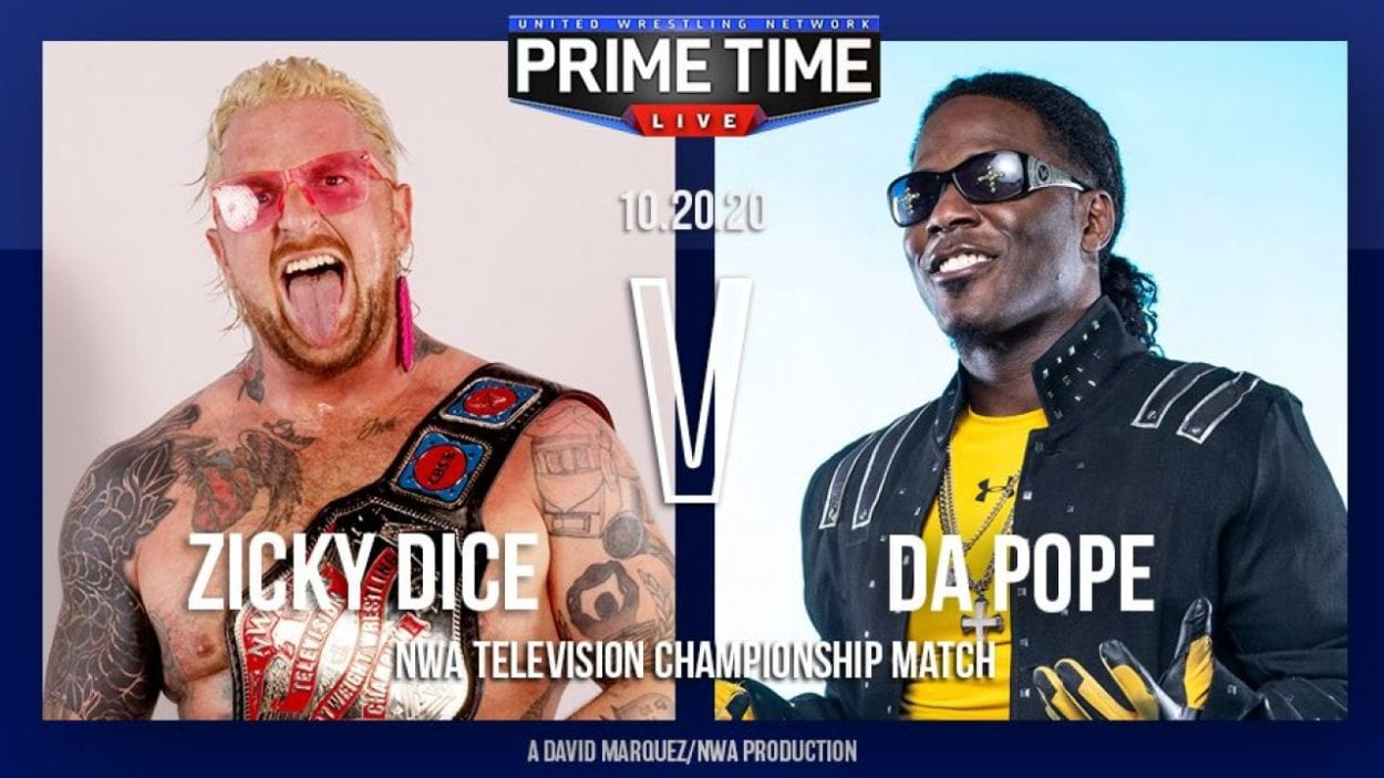 Prime Time Live Zicky Dice vs. Da Pope title card The