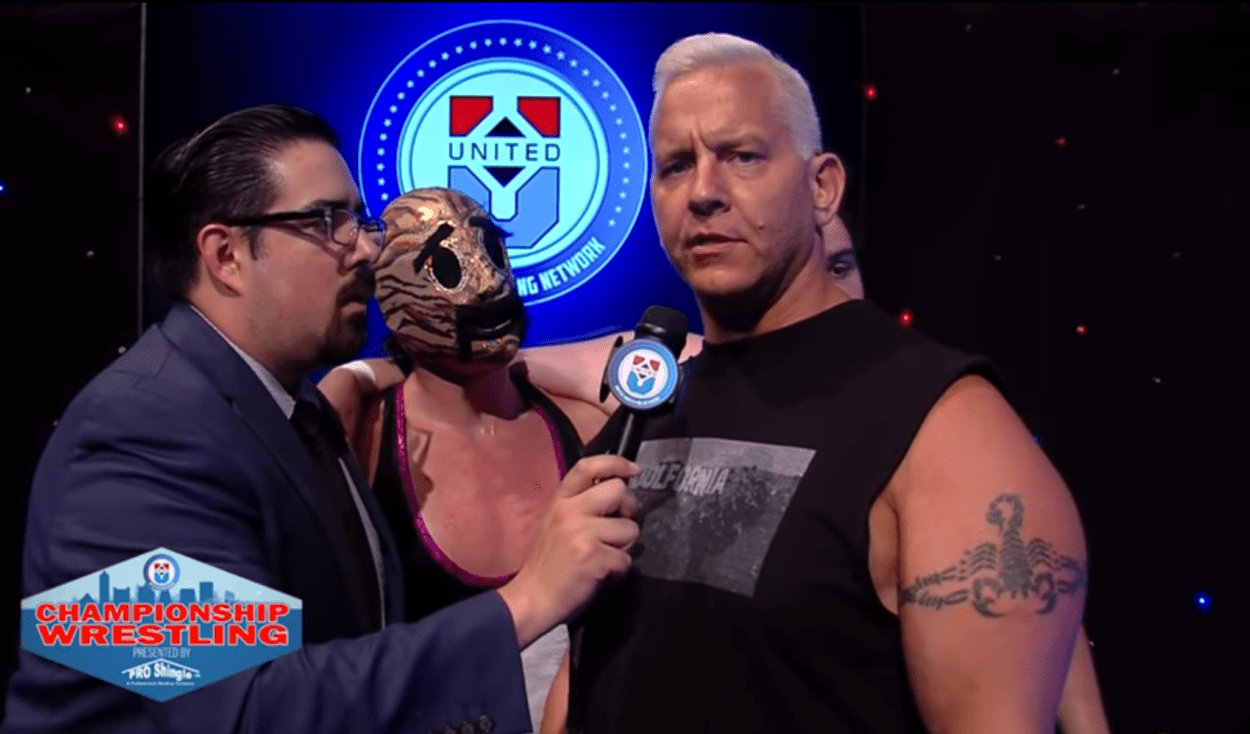 Anthony Idol addresses Nikko Marquez and management as Jon Roberts and Friendship Farm look on