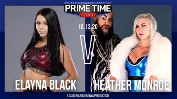 Prime Time Live - Elayna Black vs. Heather Monroe title card
