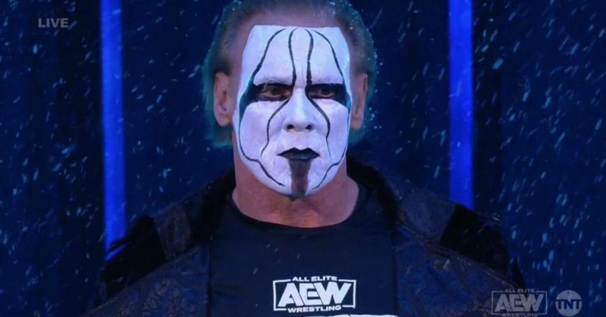 Sting Shows Up In AEW