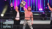 Kenny Omega with the AEW World Championship