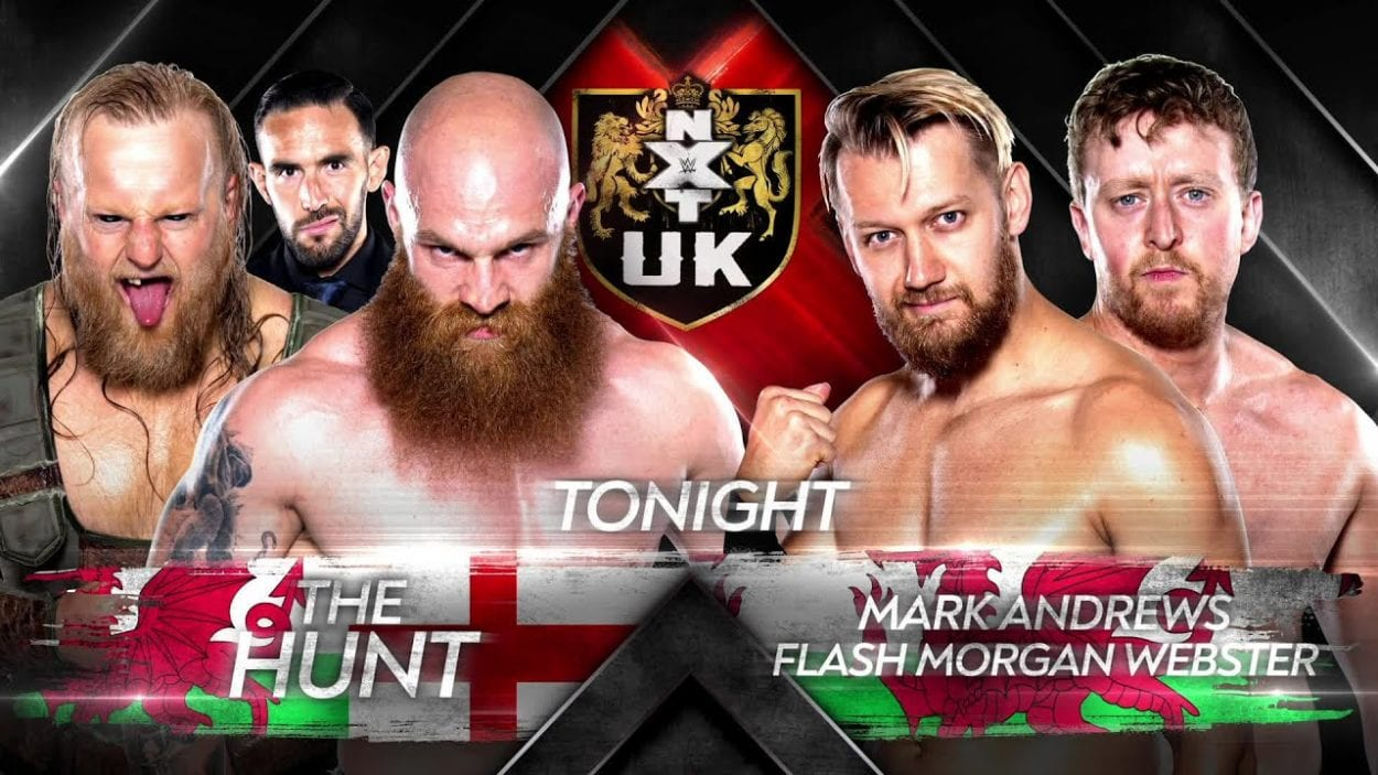 Mark Andrews and Morgan Webster vs The Hunt w/ Eddie Dennis