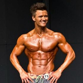Dustin Starr poses for the Mr. Tennessee bodybuilding competition