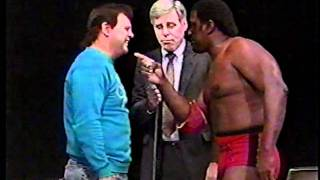 King Cobra has words for Jerry Lawler as Dave Brown looks on