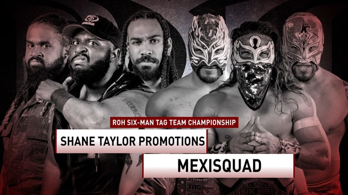 ROH Shane Taylor Promotions vs. Mexisquad title card