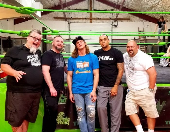 Monster Factory trainers and alum, including Cage, Matt Riddle and Damian Priest