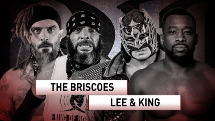 ROH The Briscoes vs. Kenny King and Dragon Lee title card