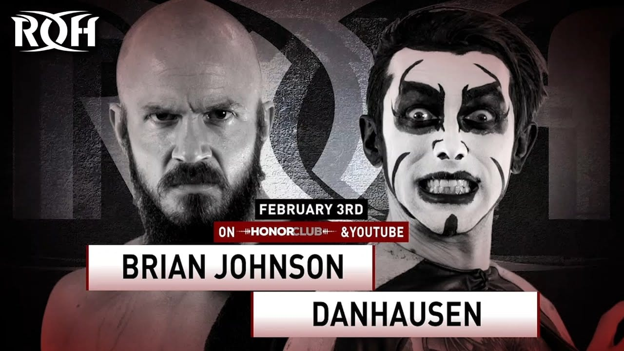 Danhausen vs. Brian Johnson title card