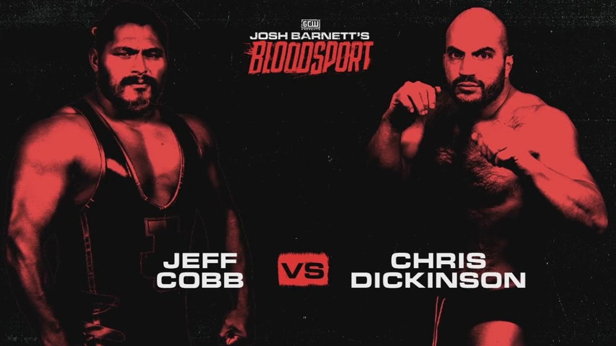 Josh Barnett's Bloodsport 4: Chris Dickinson vs. Jeff Cobb title card