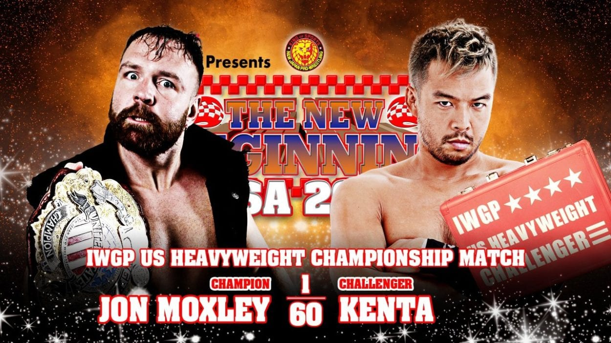 New Japan New Beginning in USA 2021 KENTA vs. Jon Moxley title card
