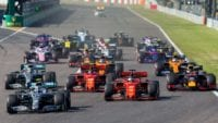 The F1 cars take it to the Australian track