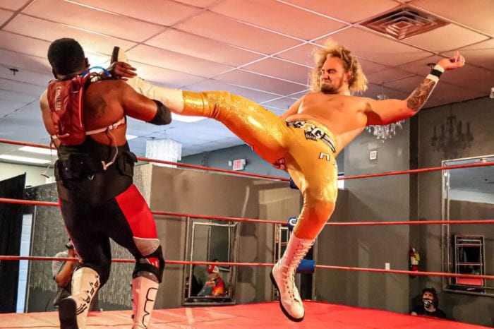 Bam Bam Malone is the king as he nails Action Jackson with a big jumping kick
