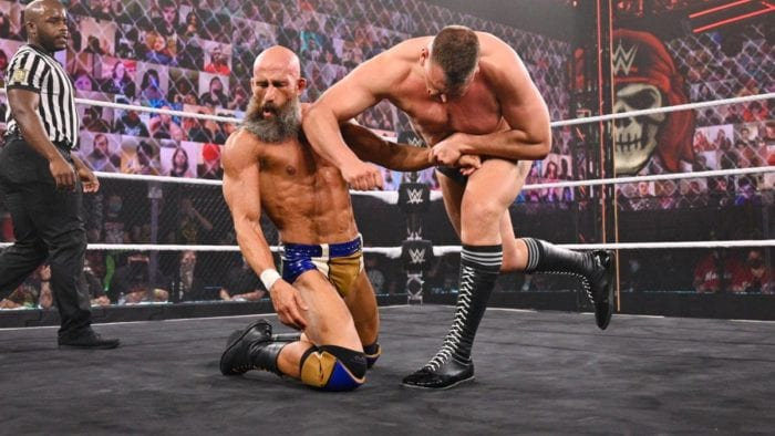 WALTER nails Ciampa with a stiff forearm at Stand & Deliver