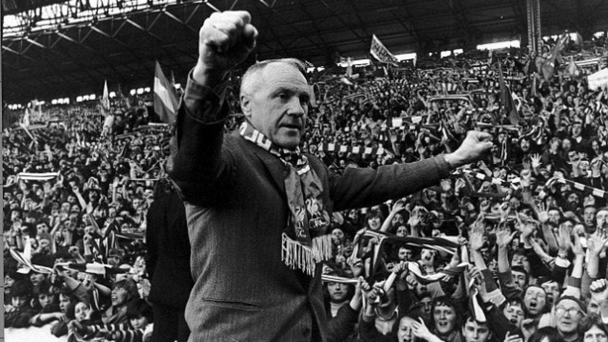 Bill Shankly addresses the masses